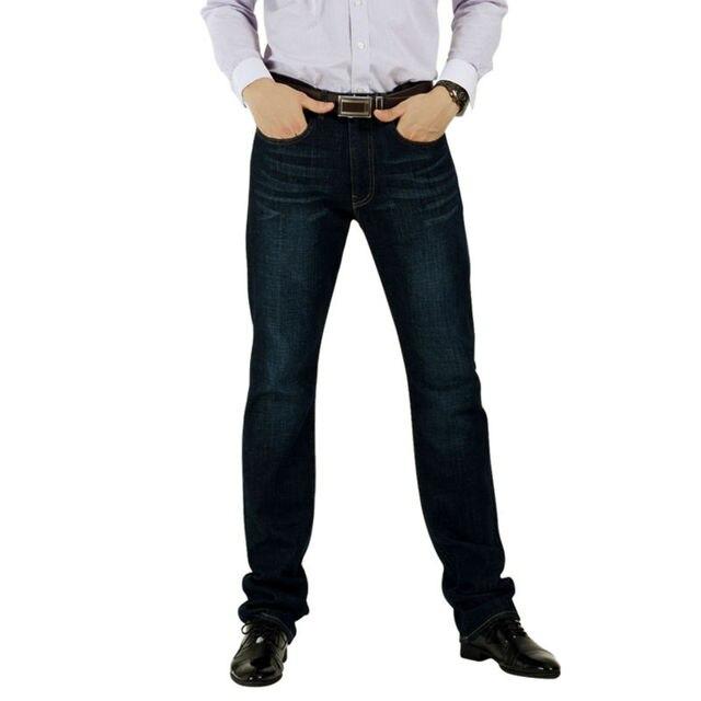 Мужские Джинсы Мужчин Бренд 100% Хлопок Дизайнер Джинсы Тонкий Большой & Tall Fit Прямая Нога Плюс Размер Высококачественного Size32x34 34 х 34 36x34 38x36