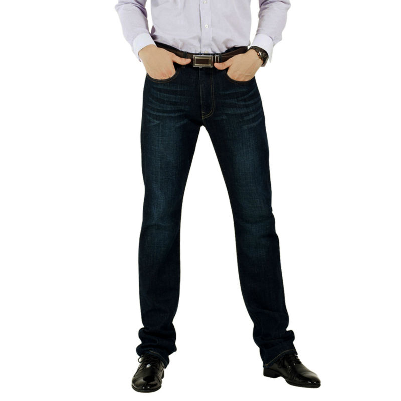 Men   Jeans   Men Brand 100%Cotton Designer   Jeans   Slim Big&Tall Fit Straight Leg Plus Size HighQuality Size32x34 34x34 36x34 38x36