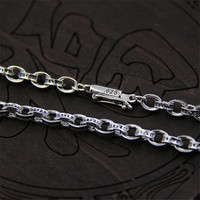 Hot Sale 5mm 925 Sterling Silver Link Chains Necklaces Fit For Pendant Charm For Women Men