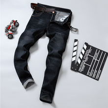 2019 Brand Men Jeans Thick Winter Autumn Style Jeans Slim Stretch Jeans Denim Pants Solid Slim Fit Jeans Male Street Skinny Pant latest design stretch jeans men classic blue jeans famous brand clothing elastic slim fit pencil jeans for autumn and winter