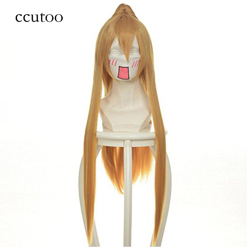 ccutoo 80 cm larga recta peluca de pelo sintético con un solo chip cola de caballo Pandora Hearts Sharon Rainsworth cosplay pelucas