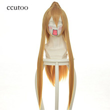 ccutoo 80cm Long Straight Synthetic Hair Wig With Single Chip Ponytail Pandora Hearts Sharon Rainsworth Cosplay Wigs