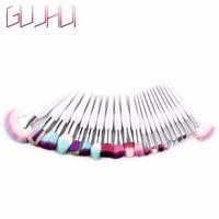 GUJHUI 22Pcs Lots Professional Women Makeup Brushes Sets Kits Foundation Face Lip Eye Powder Eyeshadow Cosmetic