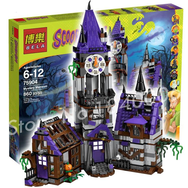 ФОТО 860pcs Bela 10432 Mystery Mansion Scooby Doo Dog Carton Movie Animal Building Blocks Kit toys Compatible with Lego