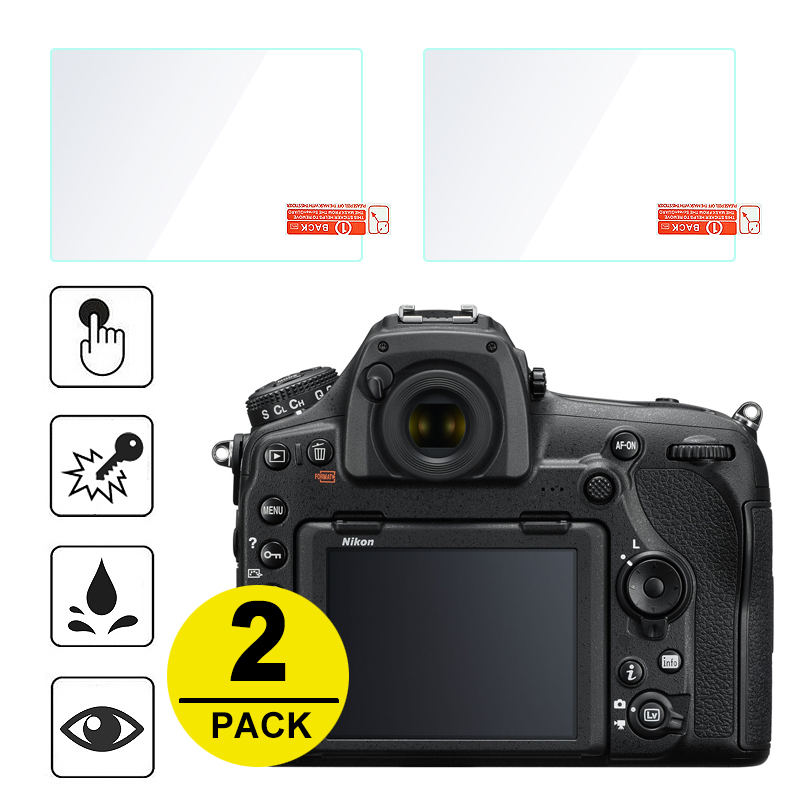 2x Tempered Glass Screen Protector For Nikon Z6 Z7 D500 D850 D750 D5 D7500 D7200 D7100 D810 D800 D610 D3500 D3400 D5600 D5500