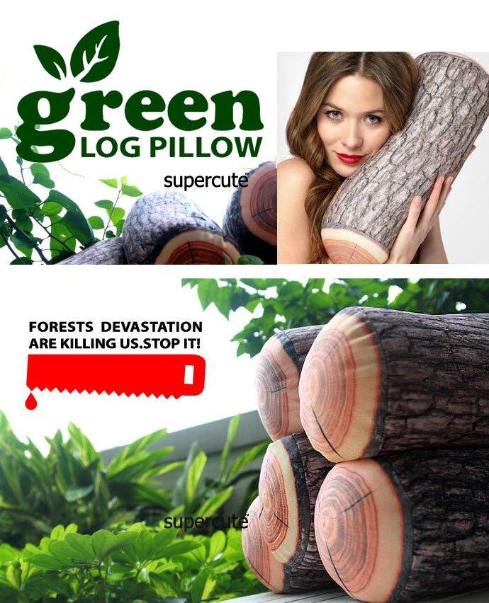 Wholesale Novelty plush tree stump wood Cylindrical soft seat cushion Pillow kids toys free shipping