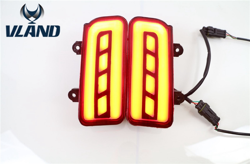 Free shipping vland factory For CRV bumper light 2015 2016 dual function multifunction 2 Pcs Tail Rear Bumper Light LED bar free shipping chinese factory custom 2015 100