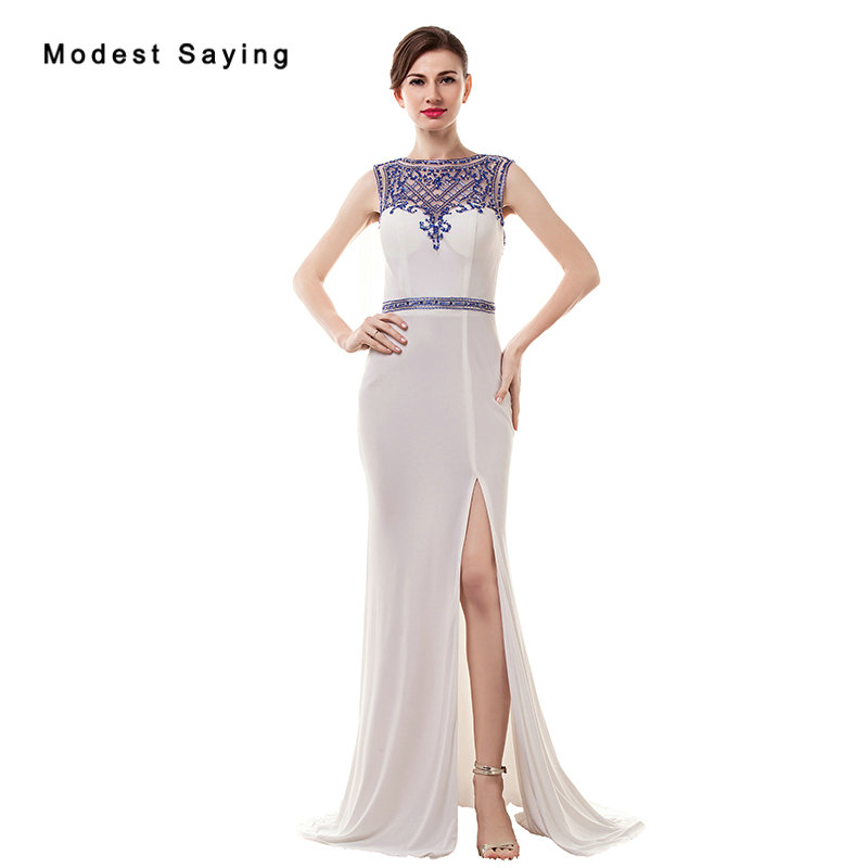 2018 New Arrival Sexy See Through Split Mermaid Sparkly   Evening     Dresses   Miss Universe   Dresses   Party Prom Gowns vestido de festa