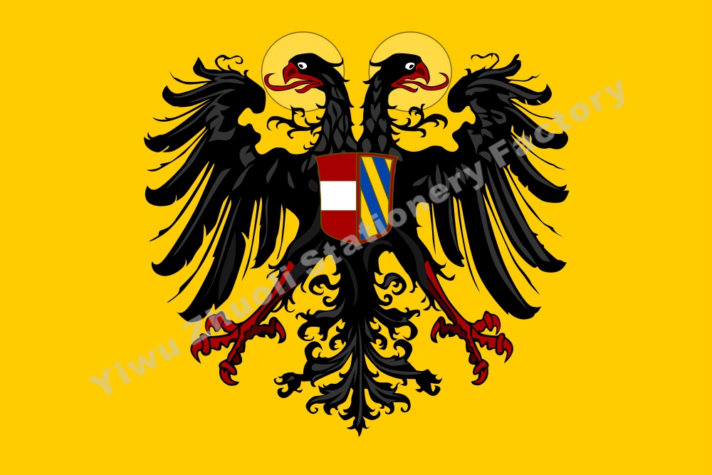 Germany Banner Holy Roman Emperor with Arms 1493 Flag 150X90cm (3x5FT) 120g 100D High Quality Banner Free Shipping image