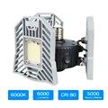 60 W Led Deformable lámpara luz del garaje E27 bombilla de maíz LED Radar iluminación de alta intensidad aparcamiento almacén Industrial