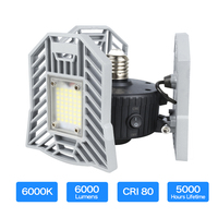 60W Led Deformable Lamp Garage light E27 LED Corn Bulb Radar Home Lighting High Intensity Parking Warehouse Industrial