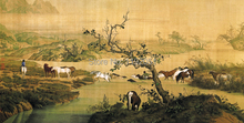 Giuseppe Castiglione masterpiece reproduction traditional Chinese style oil painting scenery 100 piece portion traditional style 100
