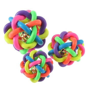 dog-puppy-cat-pet-bell-sound-ball-rainbow-colorful-rubber-plastic-fun-playing-toy-funny-55cm-or-65cm