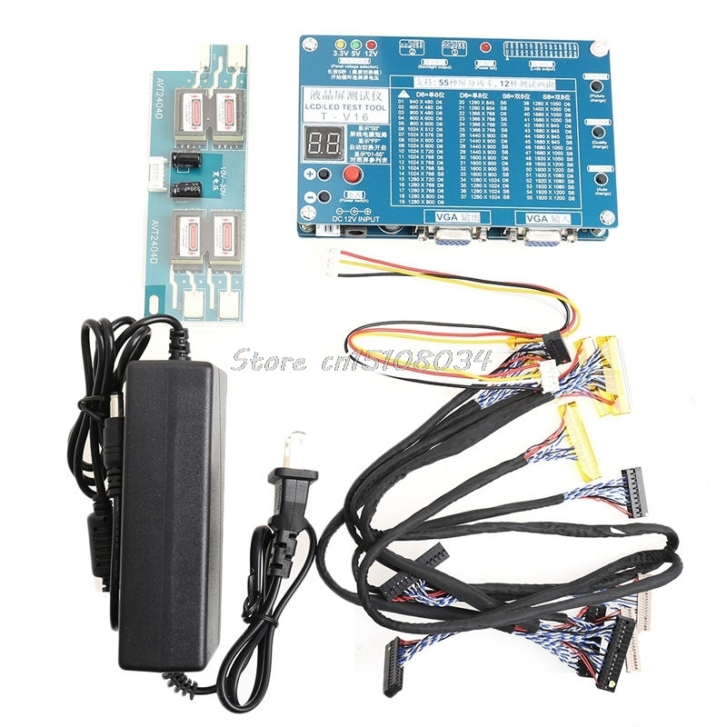 Laptop Computer TV Repair Tool LCD LED Panel Tester Support 7 84 LVDS Screen S08 Drop