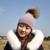 Pompón De Piel Sombreros Para Las Mujeres Sombrero de Lana de Punto de Moda Real Capó Bola de la Piel del Cráneo de esquí Bobble Beanie Cap Cachemira Grande de piel de Mapache sombrero