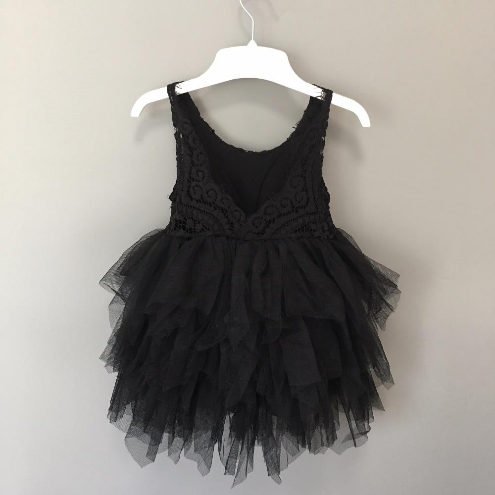 Girls Black Lace Dress