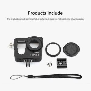Image 5 - Vamson voor Gopro Accessoires Aluminium Metalen Beschermende Behuizing Case CNC Frame + Lens Cap Cover Filter voor Gopro Hero 4 VP636