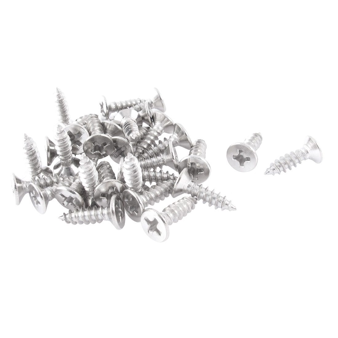 Aliexpress Buy Uxcell Silver Tone Self Tapping Phillips Flat Head Sheet Metal Screws