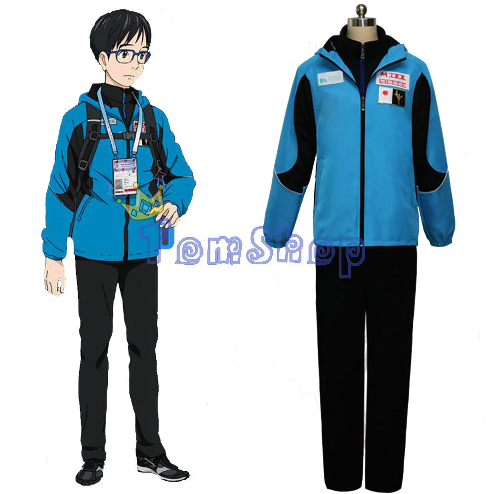 Katsuki Yuuri Jacket from Yuri on Ice Cosplay Costume