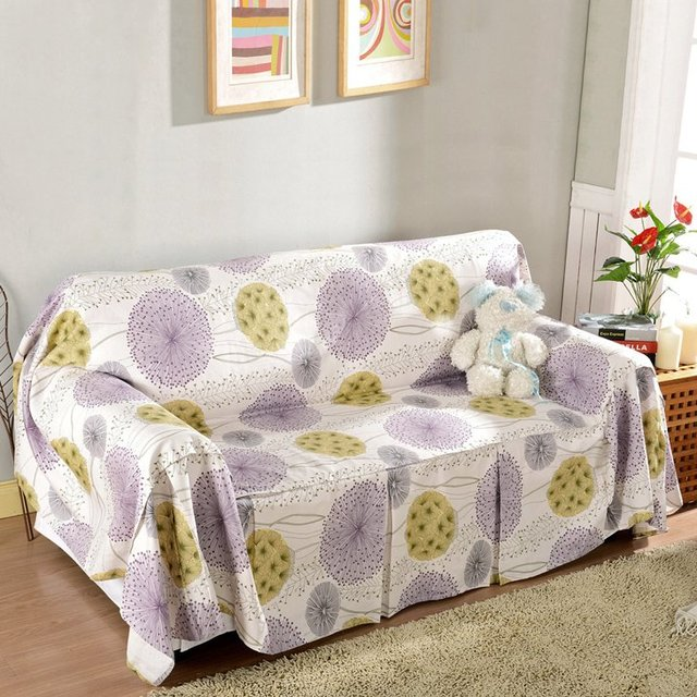 chinese style dandelion pattern sofa cover cotton canvas universal rh aliexpress com sofa cover pattern free sofa slipcovers patterned