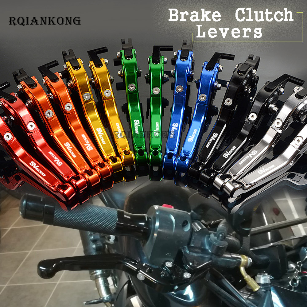 For Suzuki SV650 SV 650 2016 CNC Aluminum Motorcycle Accessories Folding Extendable Adjustable Foldable Brake Clutch