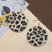 STRATHSPEY Handmade Leopard Earrings for Women Bohemian Round Rattan Earring Natural Big Earing Summer Jewelry Boucle D'oreille цена