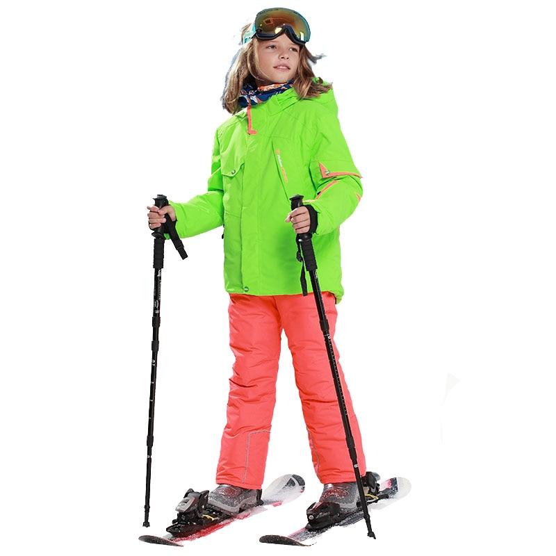 3e0372723299 Dropwow kids clothes winter ski suit windproof 5000ski jackets+pant ...