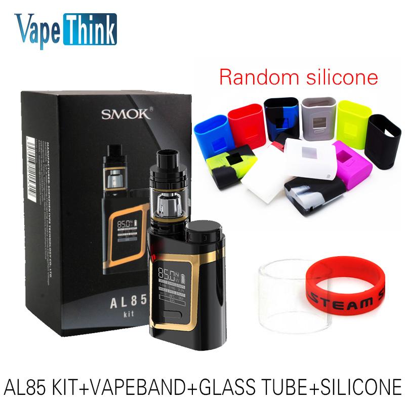 Prix pour Smok origine AL85 Kit avec 85 W AL85 boîte Mod Vaporisateur et 3 ml TFV8 Bébé Réservoir Atomiseur E-Cigarettes Kit VS SMOK Alien istick pico