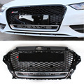 A3 RS3 Styling ABS Frente Auto Car malha Grille Grills com furo câmera Para Audi A3 S3 RS3 2013-2015
