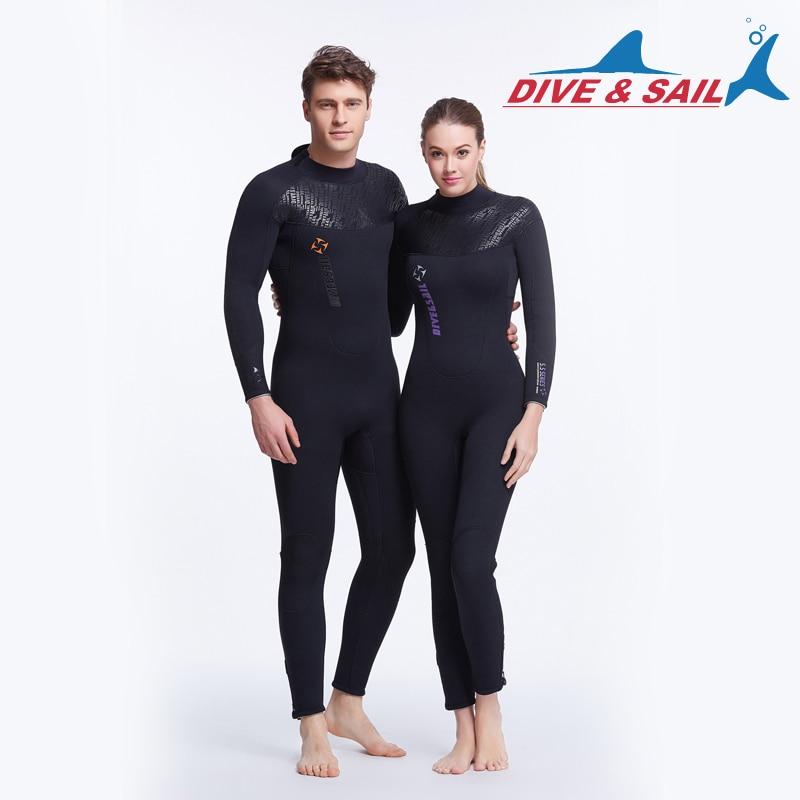 5mm néoprène combinaison femmes plongée sous-marine costume haute élastique plongée en apnée à manches longues maillots de bain sport voile combinaisons Surf combinaisons