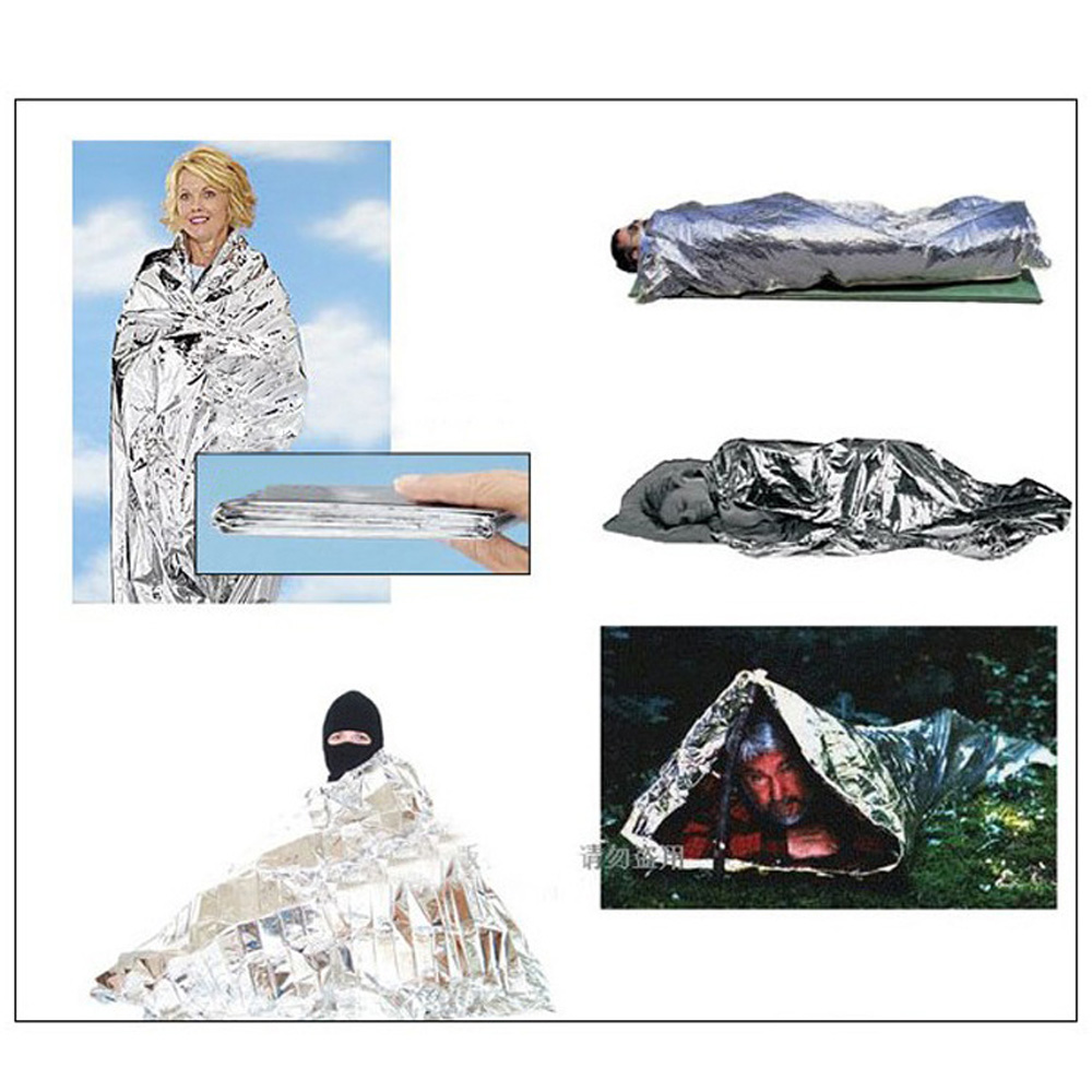 210*130CM Emergency Blanket Outdoor Survival Rescue Blanket Insulation Curtain First Aid Rescue Life-saving Military Blanket