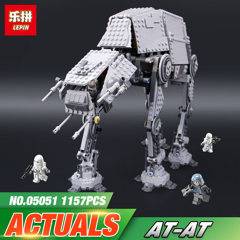 Lepin 05051 Star Series Wars The Force set Awakens AT Model Kids Toys Building Blocks Bricks With Action LegoINGly 75054 saintgi saintgi star wars the force awakens kylo ren action figure pvc 16cm model toys kids gifts collection free shipping