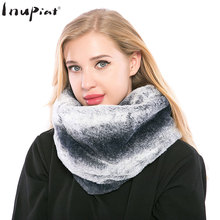 INUPIAT Fashion Women's Fake Fur Scarves 2017 New Arrival Vintage Faux Fur Ring Pattern Warm Winter Scarf for Woman trendy faux crystal embellished cuff ring for women