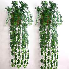 Artificial Ivy Leaf Garland Plants Vine Fake Foliage Flowers Home Decor Plastic Artificial Flower Rattan Evergreen Cirrus(China)