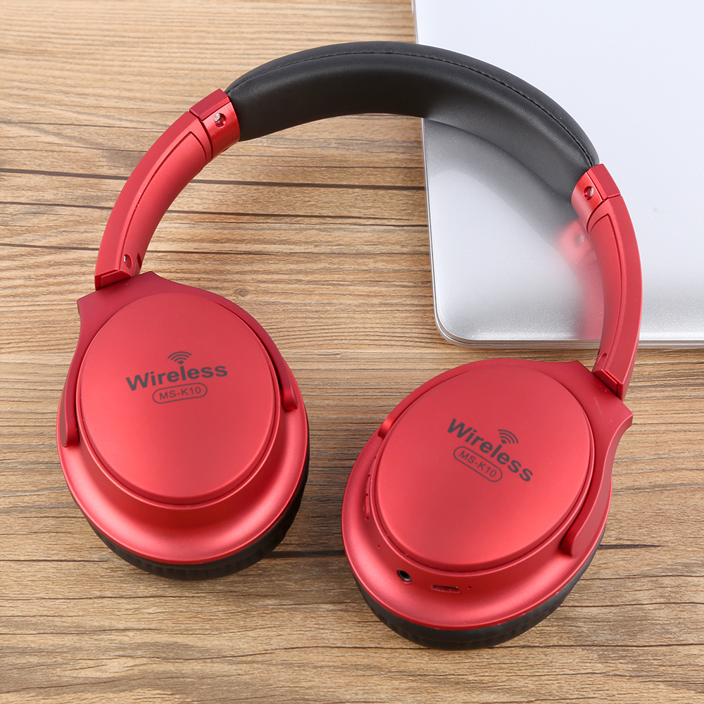 bass wireless bluetooth stereo headphones with mic hi fi headphones overhead for music player PC phone
