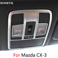 For Mazda CX-3 CX3 2015-2017 Car Reading Light Frame Cover Chrome Trim Chromium Interior Auto Decoration Accessories Car-styling