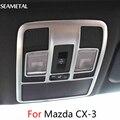 Para Mazda CX-3 CX3 2015-2017 Luz de Leitura de Carro Tampa Quadro Acabamento Cromado Cromo Interior Auto Acessórios de Decoração Do Carro-styling