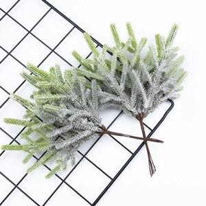 Image 5 - 6 pcs צמחים מלאכותיים מזויף אורן אגרטלים חג המולד קישוטים לבית חתונה diy מתנות תיבת זר רעיונות פלסטיק פרחים