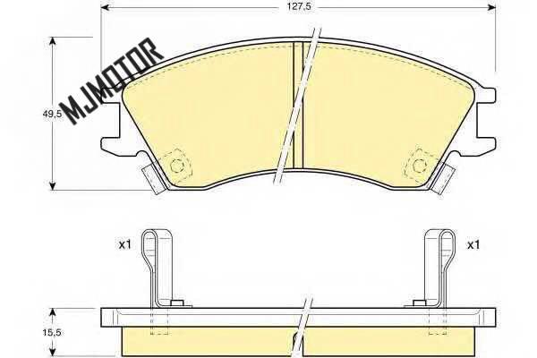 Kit de plaquettes de frein avant pour chinois JAC J3 1.3L Auto voiture moteur pièces S3500L21058-00001 - 3