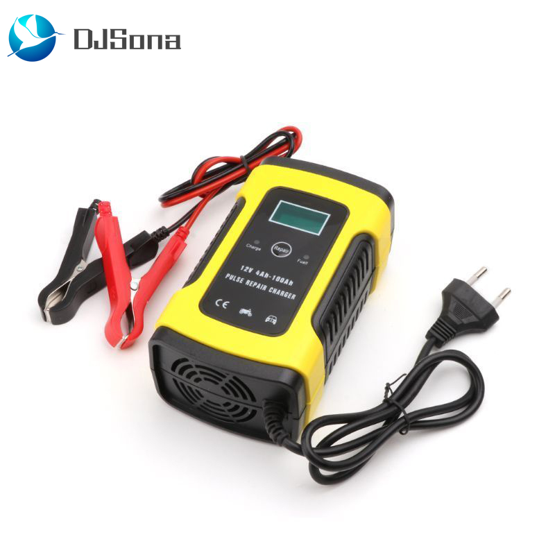 Автоматическое зарядное устройство для авто и мотоцикла, 12 В, свинцово-кислотные батареи, интеллектуальная зарядка, 12 В, 6 А, ампер