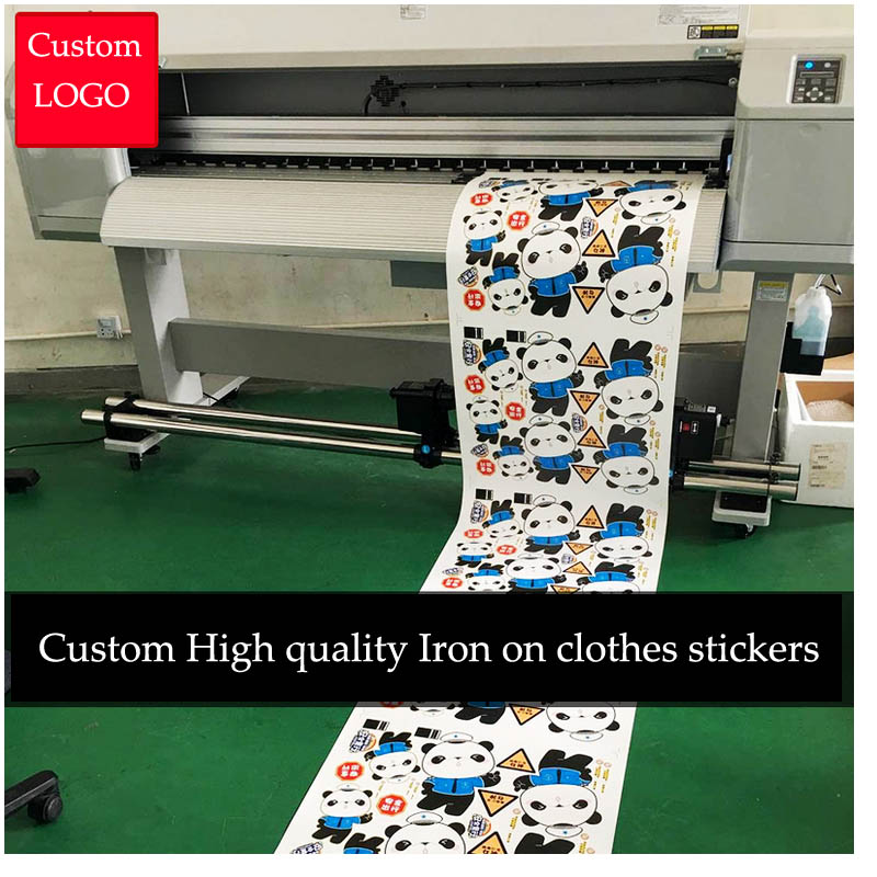 Custom Candy Color LOGO Vinyl Film Stickers T-shirt Heat Transfer Labels Iron-on Clothing Elastic Washable Printing Patches