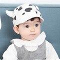 Primavera bebé cap 3d cuerno de buey vaca imprimir kids niños soft gorro de algodón gorra de béisbol del snapback cap infant toddler fotografia