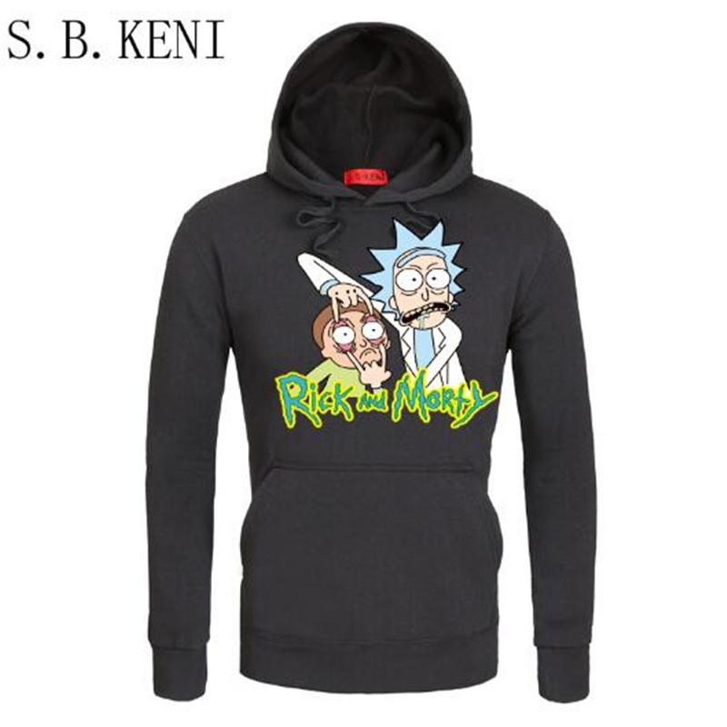 Herfst hip hop groot Hoodies Herenmode Cool Rick Morty Merk Trui - Herenkleding