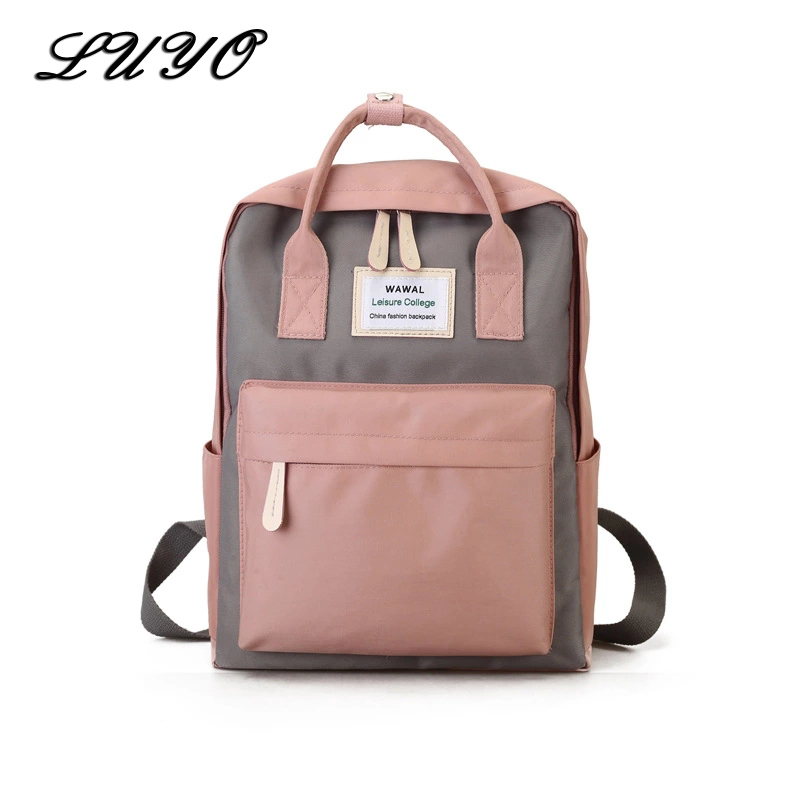 Luyo Canvas Student School Bags Backpacks For Teenage Girls Feminine Fashion Backpack Women Mochila Feminina Kanken Cute Pink