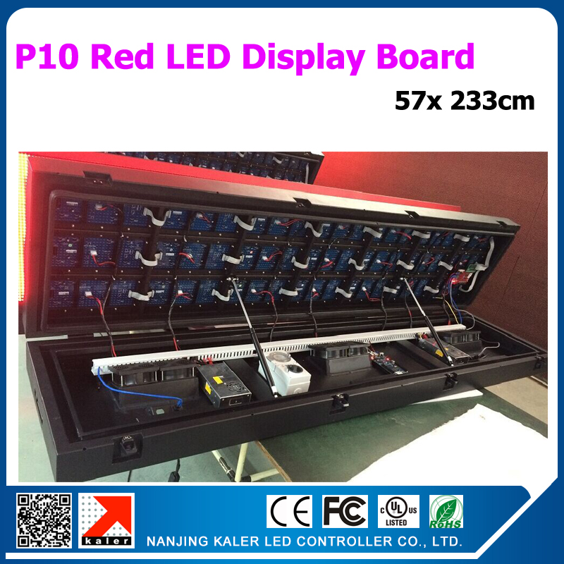 New Arrival Front Open Led Display Board Outdoor Waterproof Red Color Led Text Sign Board 57x233cm