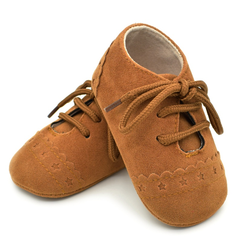 Infant Baby Girls Boys Spring Lace Up Soft Leather Shoes Toddler Sneaker Non-slip Shoes Casual Prewalker First Walkers