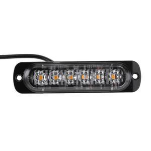 Image 5 - 4Pcs 12 24V 18W 6 LED Slim Flash Light Bar Car Vehicle Truck Moto Emergency Warning Strobe Lamps Auto Accessories