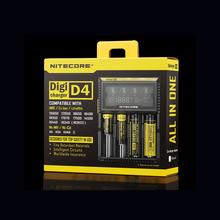D'origine Nitecore D4 Chargeur de Batterie LCD Intelligent De Charge pour 18650 14500 16340 26650 Batteries 12 V Chargeur pour Un AA AAA Batteries