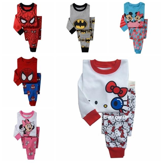90d46c7434 Retail kids pajamas set 100% cotton children sleepwear unisex boys girls  Cartoon nightgown
