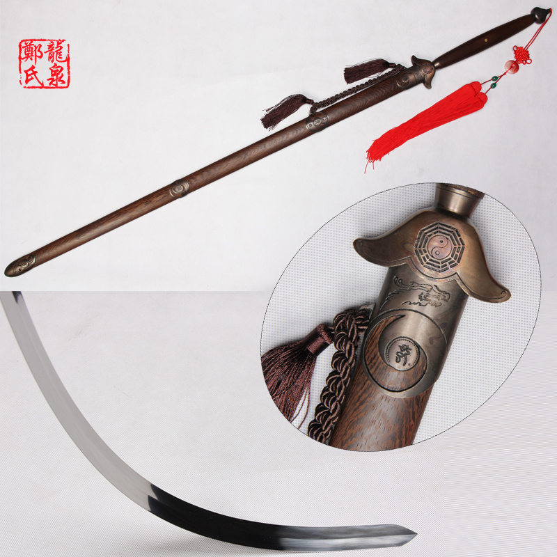 Free Shipping 56Inch Long Taiji Jian Softness Sword 440Stainless Steel Blade Double Hands Straight Swords-With Strap Bag